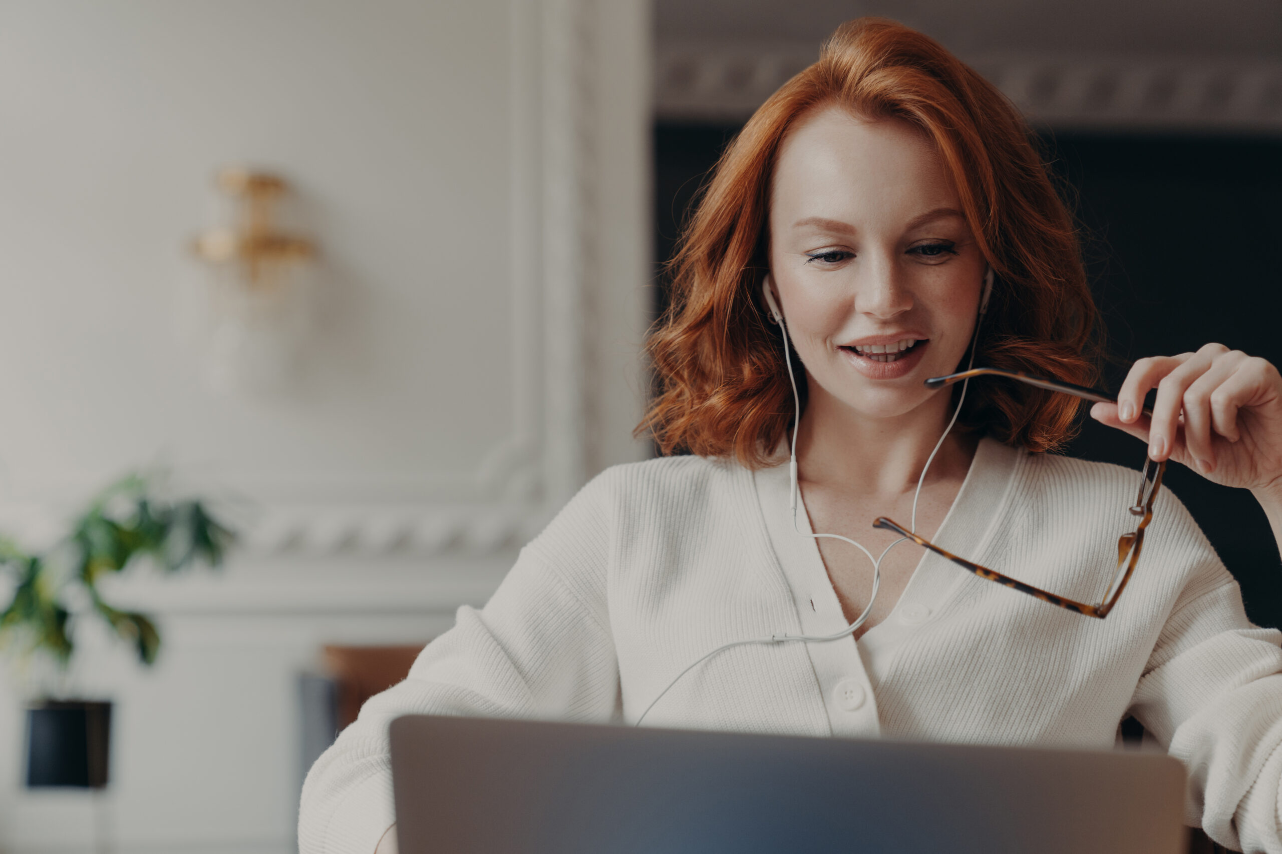 Woman thinking about which agency to hire for her business